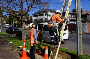 UFB NZ - overhead install